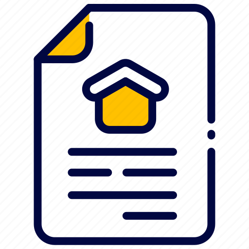 bukeicon, contract, document, estate, property, real icon