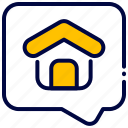 bukeicon, chat, conversation, home, house, realestate, talk