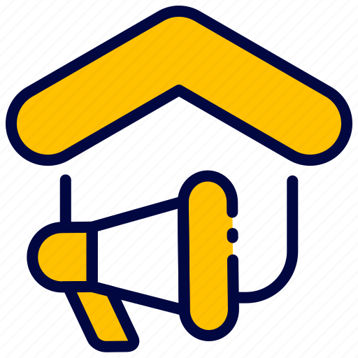 Bukeicon, estate, house, marketing, megaphone, real icon - Download on Iconfinder