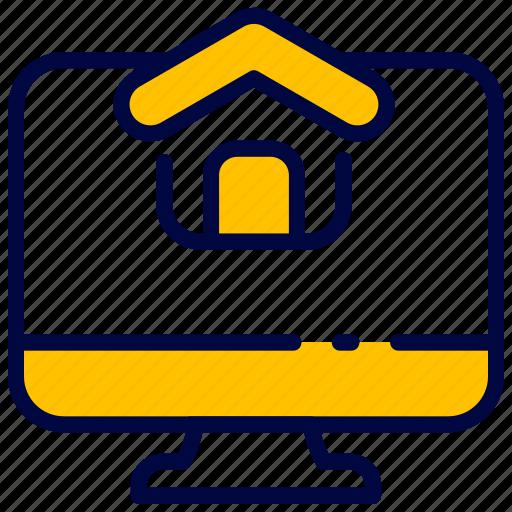 bukeicon, house, monitor, webpage, website icon