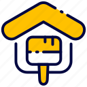 bukeicon, estate, home, house, paint, property, real icon