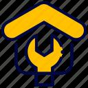 bukeicon, construction, estate, real, renovation, service, settings