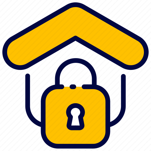 Bukeicon, estate, house, lock, property, real, security icon - Download on Iconfinder