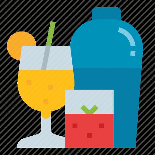 cocktail, drink, liqueur, restaurant, shaker icon