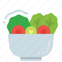 healthy, marinated, restaurant, salad, vegetable icon