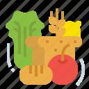 food, fruits, restaurant, vegan, vegetarian icon