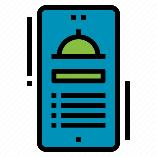 delivery, food, mobile, restaurant, service icon