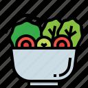 restaurant, healthy, marinated, salad, vegetable icon