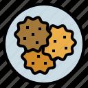 cookie, cracker, food, restaurant, snack icon