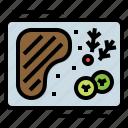 food, meat, menu, restaurant, steak icon