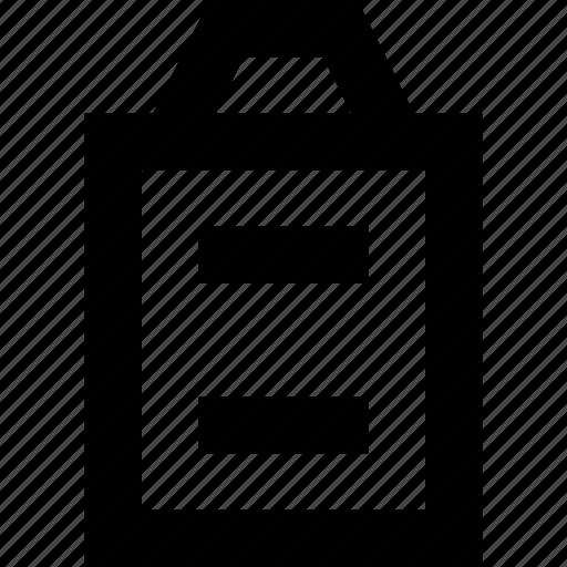 clipboard, document, file, list icon