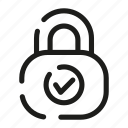 access, data, lock, safeness, secure, security, unlock icon