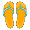 beach, cartoon, holiday, sand, slippers, summer, suncream icon