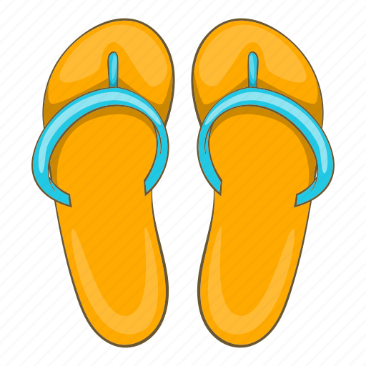 Beach, cartoon, holiday, sand, slippers, summer, suncream icon - Download on Iconfinder