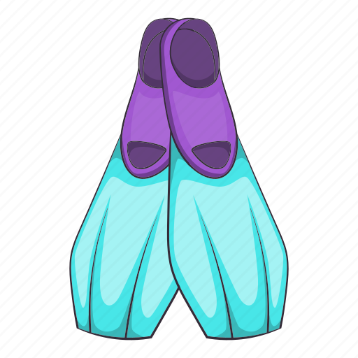 Beach, cartoon, flippers, holiday, sand, summer, travel icon - Download on Iconfinder