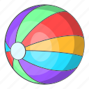 ball, beach, cartoon, holiday, sand, summer, travel icon