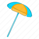 beach, cartoon, holiday, sand, summer, sun umbrella icon