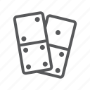 domino, game, piece icon