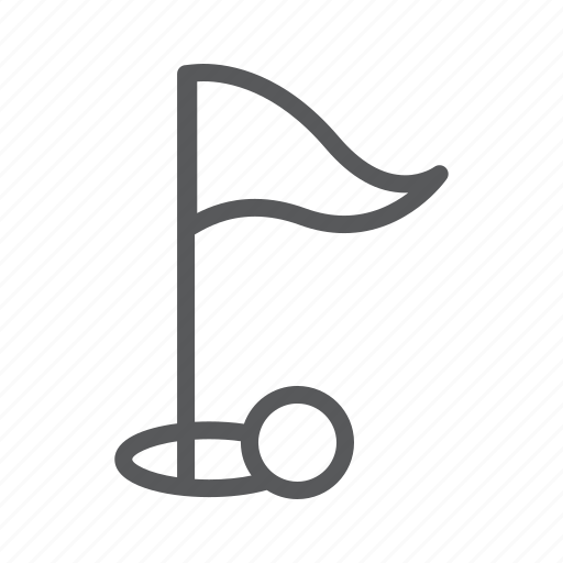 flag, golf, sport icon