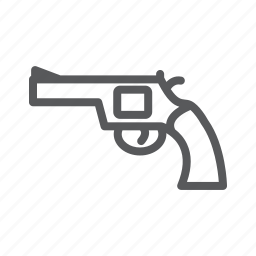 gun, handgun, revolver, shooting, weapon icon