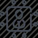 employee, hire, link, person, profile, recruitment, user icon
