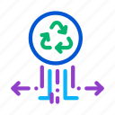 ecology, environmental, factory, garbage, labeling, popularity, recycle icon