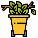 biodegradable, branch, garden, leaf, recycling, waste icon
