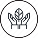 conservation, ecology, environment, line, nature, plant, recycling icon