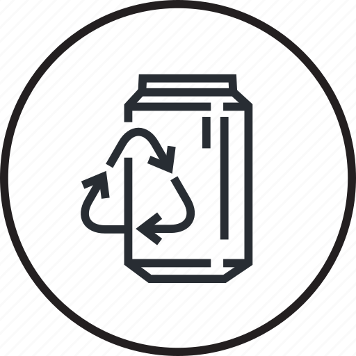 ecology, environment, line, material, metal, recycling icon