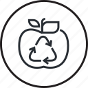 ecology, environment, food, line, recycling, waste icon