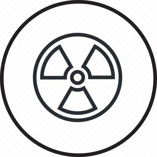 clean, energy, environment, line, nuclear, recycling icon