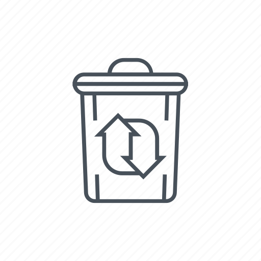 dustbin, ecology, energy saving, garbage, recycling, recycling center, trash icon