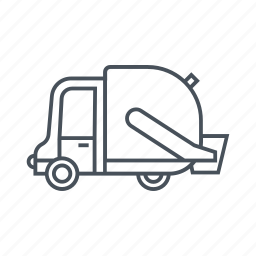 dumpster, ecology, energy saving, garbage truck, green energy, recycling, waste management icon
