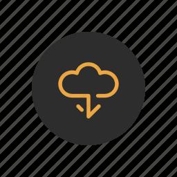 cloud, data, download, keep, storage, storing, transfer icon