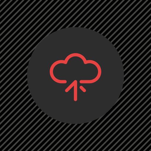 cloud, data, online, server, storage, transfer, upload icon
