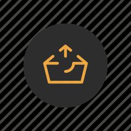 basket, box, checkout, outbox, sending, uploading icon