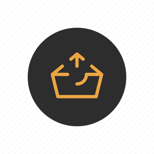 basket, box, checkout, outbox, sending, uploading icon
