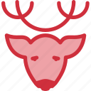 animal, christmas, deer, head, reindeer, rudolph, xmas