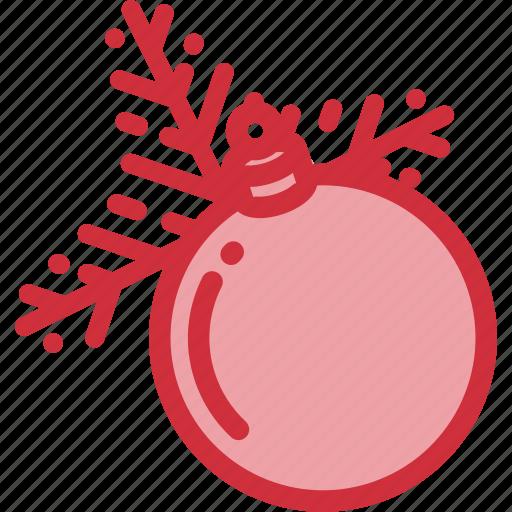 ball, bauble, christmas, holidays, tree, twig icon