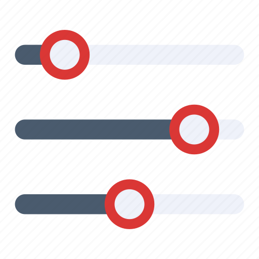 filter, mixer, options, settings, slider icon