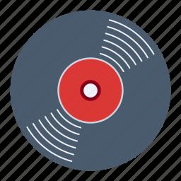 music, sing, song, tunes, vinyl icon