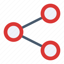 chain, connection, network, share, social icon