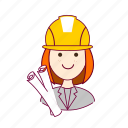 .svg, architect, arquiteta, emprego, job, mulher, professions, project, projeto, redheaded woman, ruiva, trabalho, work icon