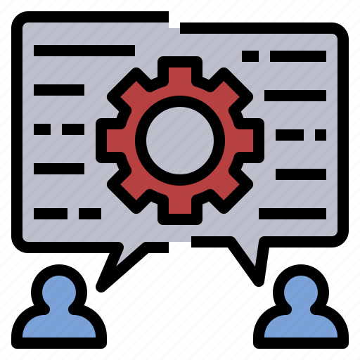 assimilation, discuss, opinion, process, team icon