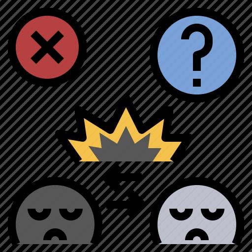 Argue, conflict, disagreement, opposition, quarrel icon - Download on Iconfinder