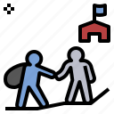assist, help, migration, refugee, support icon