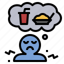 hunger, hungry, need, starvation, starve icon