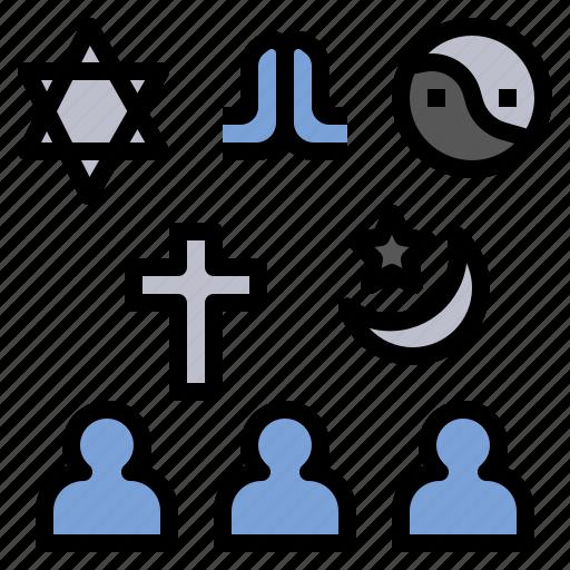 believe, faith, religion, respect, worship icon