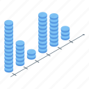 abstract, analysis, business, cartoon, chart, computer, isometric icon