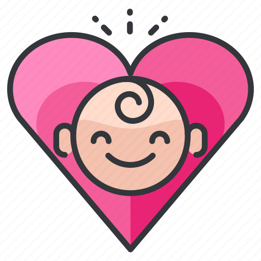 baby, child, heart, love, marriage, relationship icon